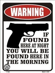 WARNING IF FOUND HERE AT NIGHT