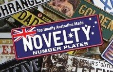 AUS EMBOSSED NOVELTY NUMBER PLATES