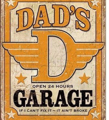 US Tin Sign - Dad's Garage