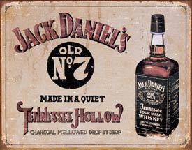 USTin Sign - JACK DANIELS OLD NO 7 TENNESSEE HOLLOW