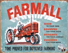 USTin Sign - FARMALL TIME PROVED