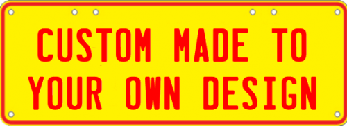 Example of custom made novelty plate