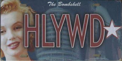 Marilyn Monroe HLYWD Novelty License Plate