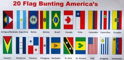 30 flags Zambia National Bunting 9 metres long