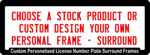 Number Plate Frames